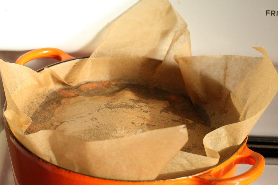 Use of parchment to prevent boiling