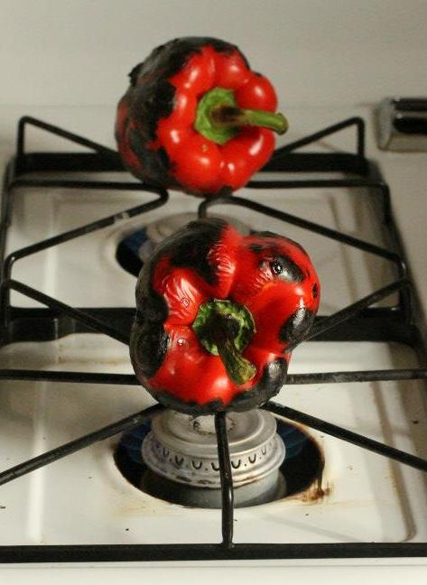 Red peppers roasted