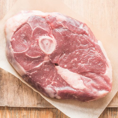 Grass fed goat leg steak