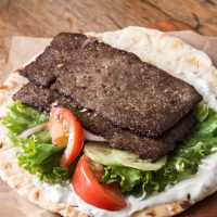 Grass fed lamb gyro meat
