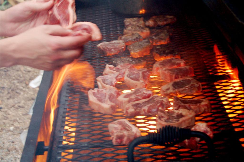 Lamb Chops on Grill