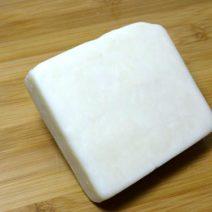 Semi-hard goat milk cheese