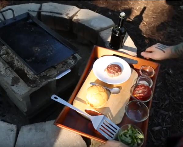 Lamb burger grilled