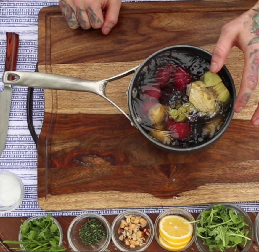 Prepare side artichokes