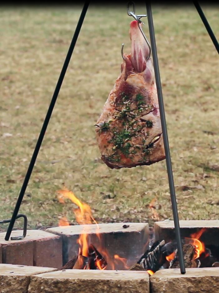 Lamb Leg Roasted Tripod