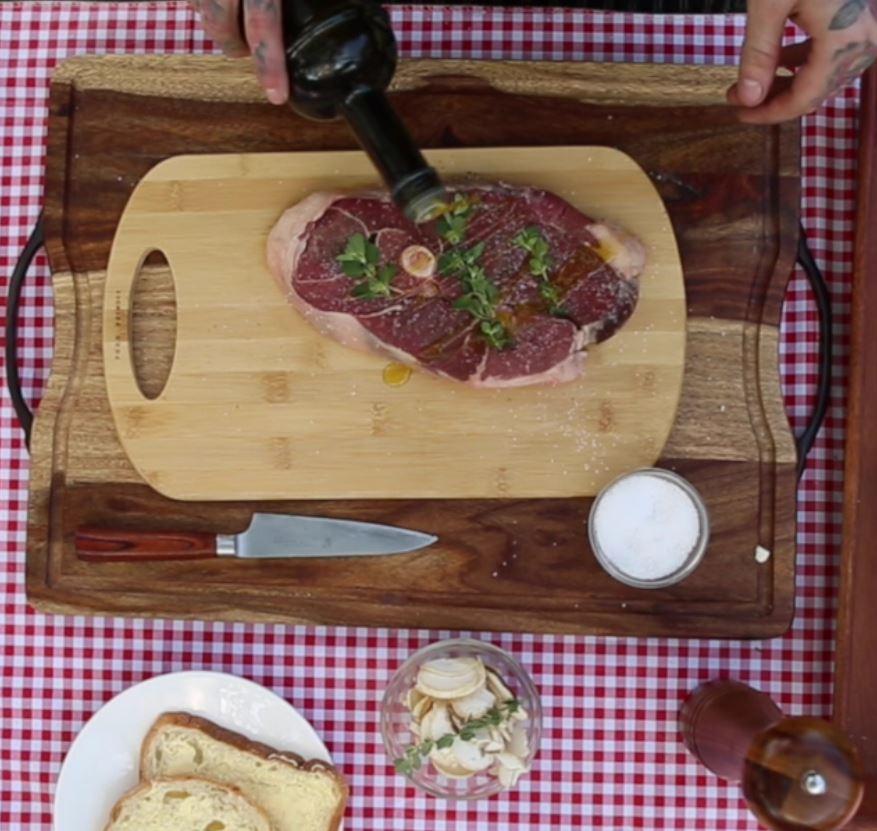 Lamb Steak with Marjoram