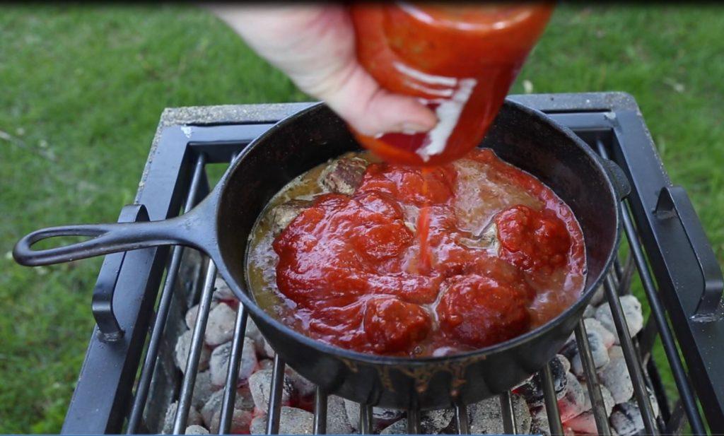 Goat meatballs and Marinara sauce