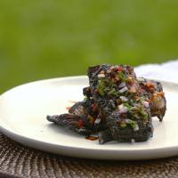 Jerk seasoned grass-fed lamb ribs