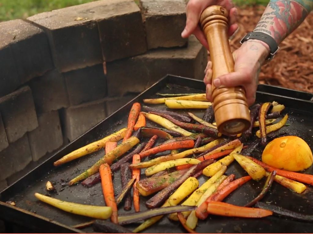 Fire Pit Grilled Vegetables