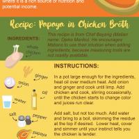 papaya in chicken broth recipe