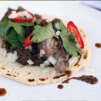 Lamb Meat Taco Mole