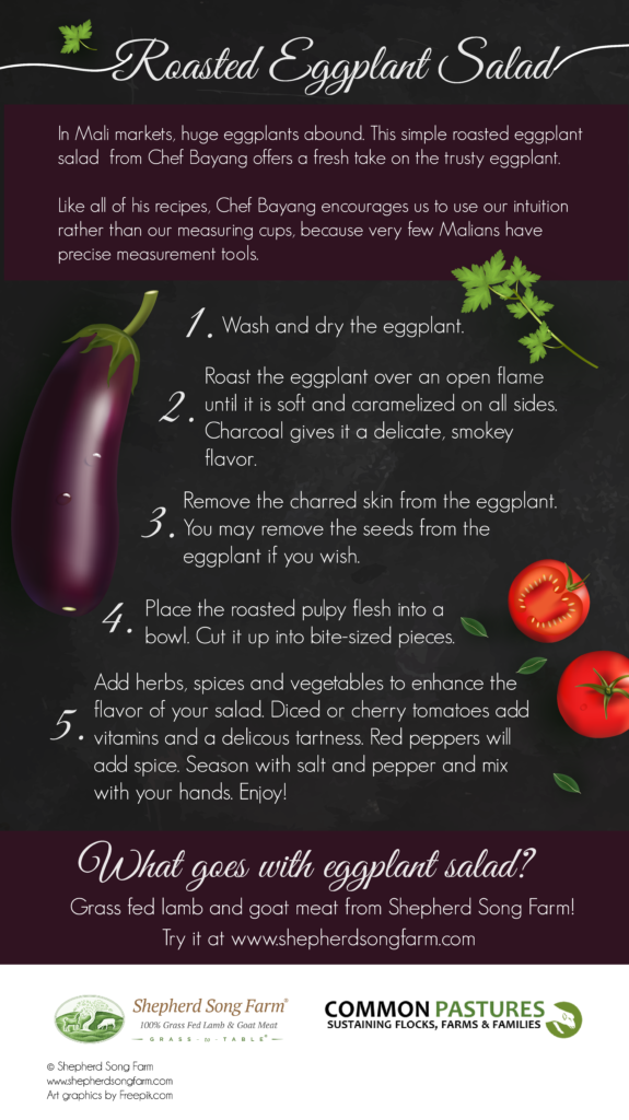 Roasted Eggplant Salad (Infographic)