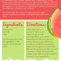 Poached Guavas in Fresh Milk recipe