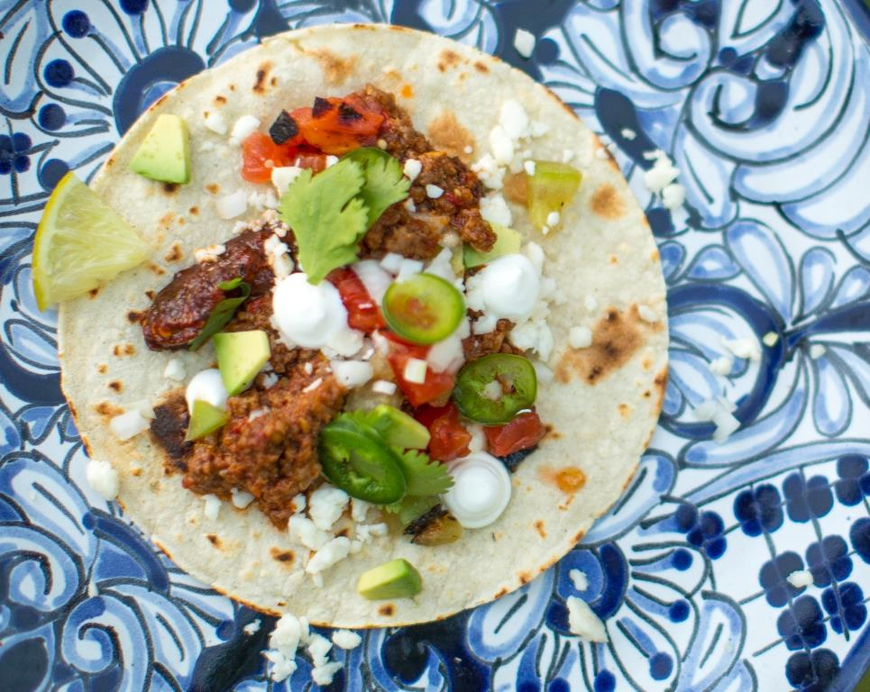 Goat Taco Plated