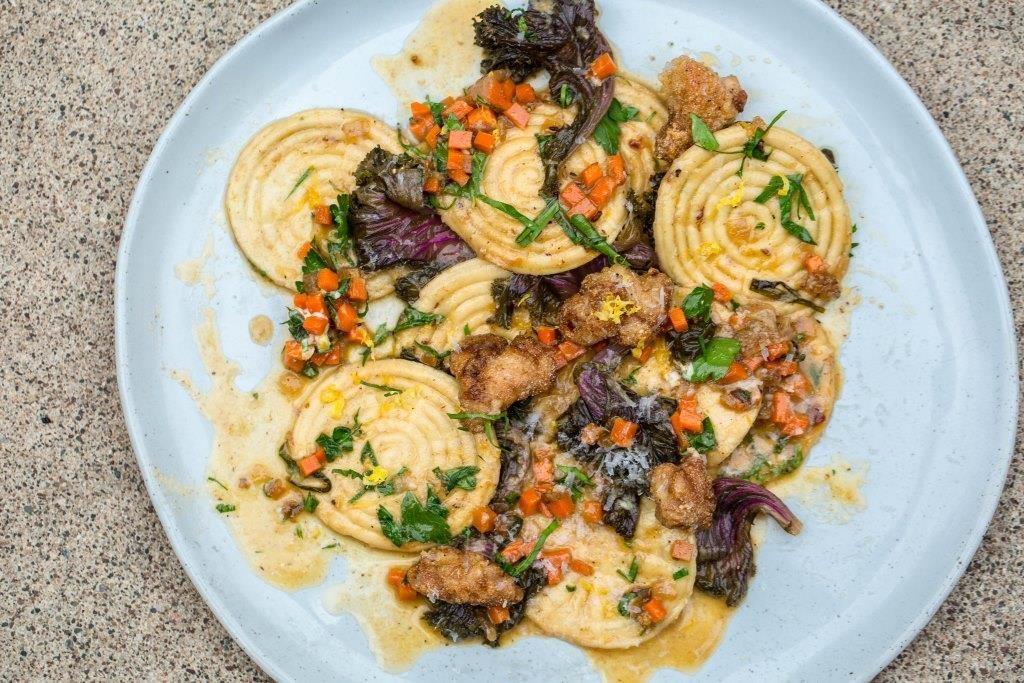 Lamb Sweetbreads Plated Corzetti
