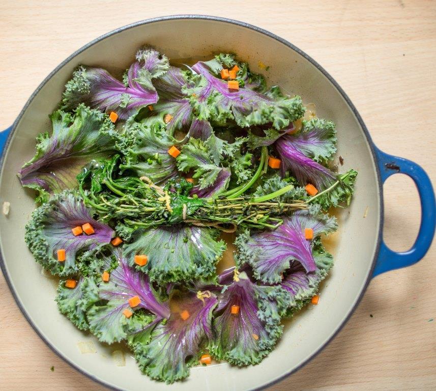 Prepping Kale