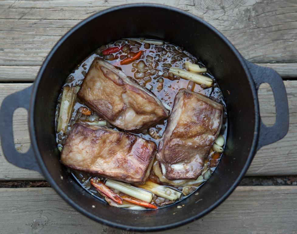 Lamb Riblets slow cooking