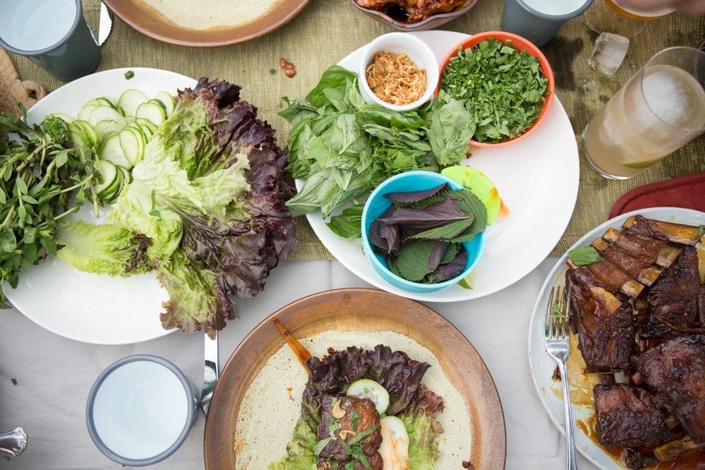Salad and Riblets