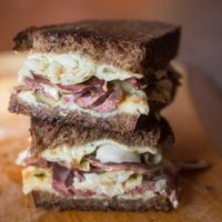 Reuben Heart Sandwich
