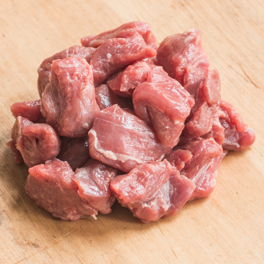 Grass fed goat stew meat for dogs