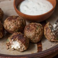 Lamb cheese filled Meatballs