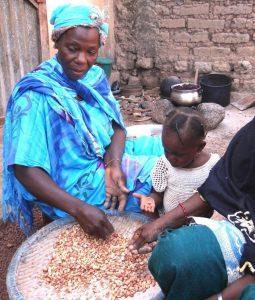 Sorting Groundnuts Kalana, Mali