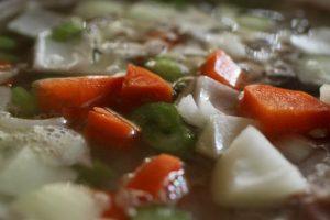 Rice and lamb porridge simmering