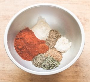 Homemade creole spice mixture
