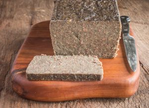 Grass fed lamb or goat scrapple