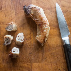 Goat trachea stuffed with liver dog treat recipe