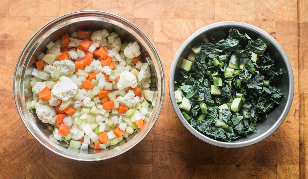 Vegetables for lamb or goat head vegetable soup