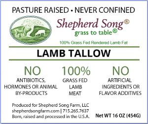 Shepherd Song Lamb Tallow Label