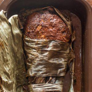 Yucatan Style Roasted Goat Leg Cochinita Pibil