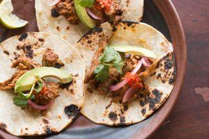 Grass fed goat cochinita pibil tacos