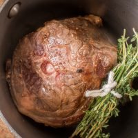 Grass fed lamb or goat neck confit recipe