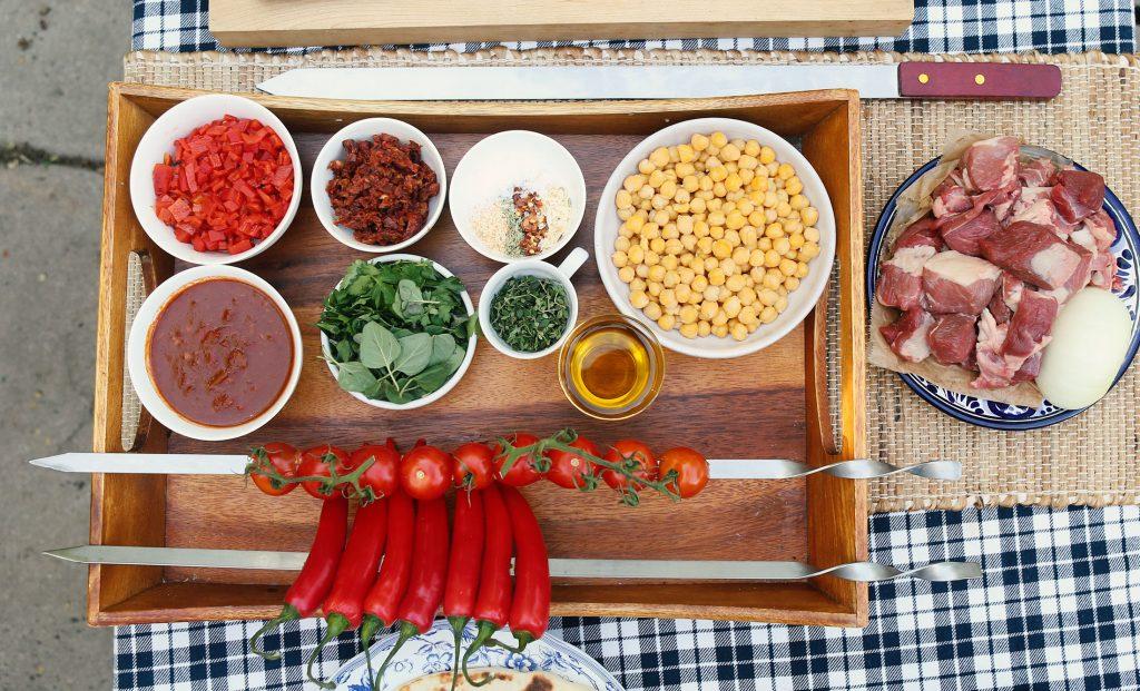 Ingredients for lamb kebobs