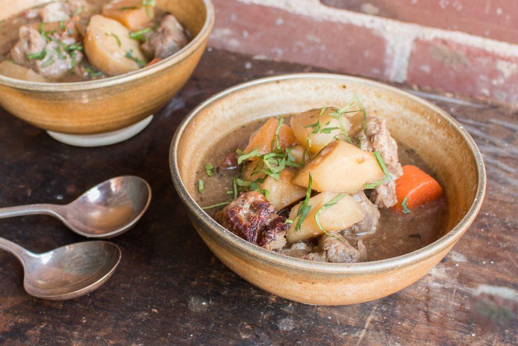 Traditional Irish grass fed lamb stew