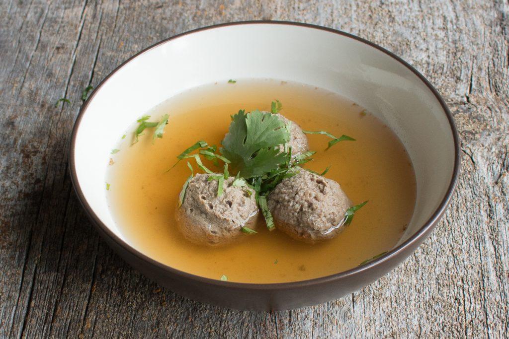 Lamb or goat liver dumplings