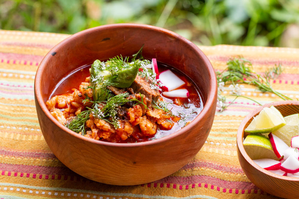 Posole made from goat or lamb head