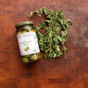 Castelvetrano olives and fresh marjoram