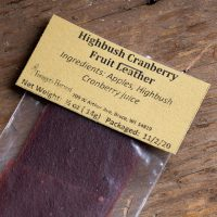 Highbush Cranberry Fruit Leather