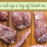 how to cut up a lamb or goat leg into roasts