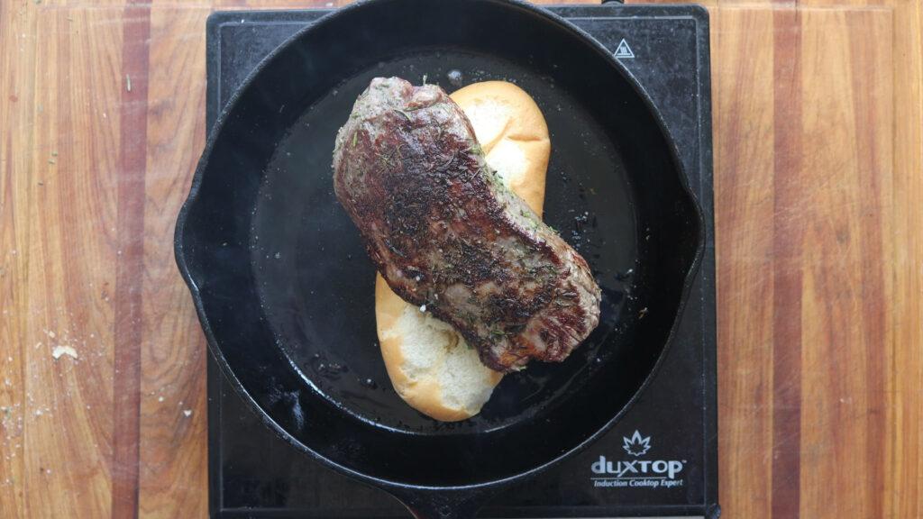 Cooking a rosemary lamb roast