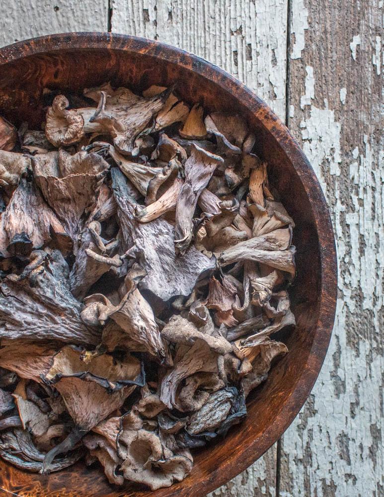 fresh black trumpet mushrooms