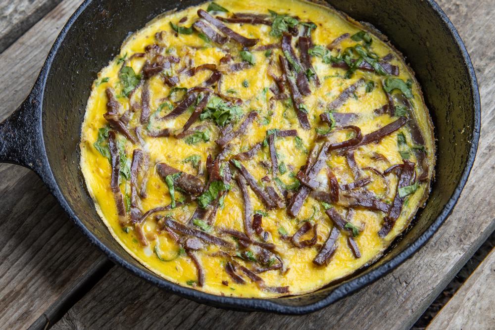 Pastirma omelet